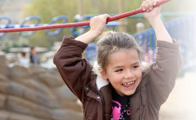 Child on Playground Allie